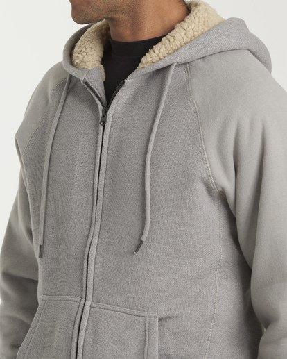 5 Balance Sherpa Zip Hoodie Grey M665VBBS Billabong