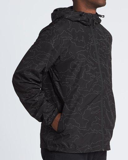 2 Transport Print Jacket Black M7021BTR Billabong