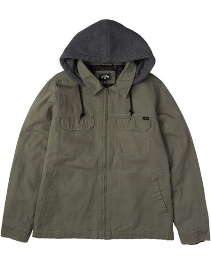 5 Barlow Twill Jacket Green M7063BBT Billabong