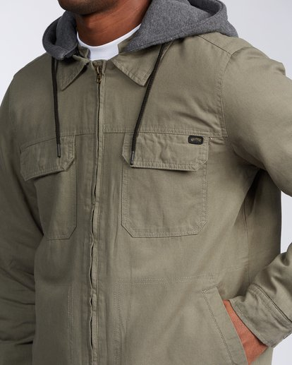 3 Barlow Twill Jacket Green M7063BBT Billabong