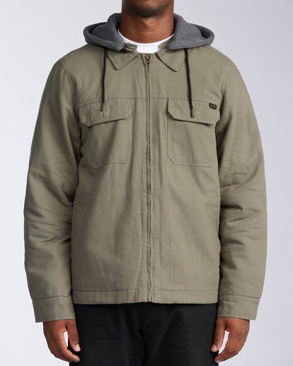 0 Barlow Twill Jacket Green M7063BBT Billabong