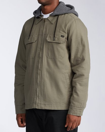 1 Barlow Twill Jacket Green M7063BBT Billabong