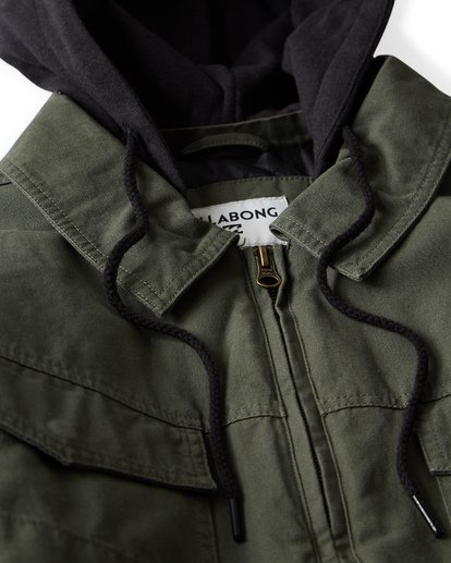 10 Barlow Twill Jacket Green M706VBBT Billabong