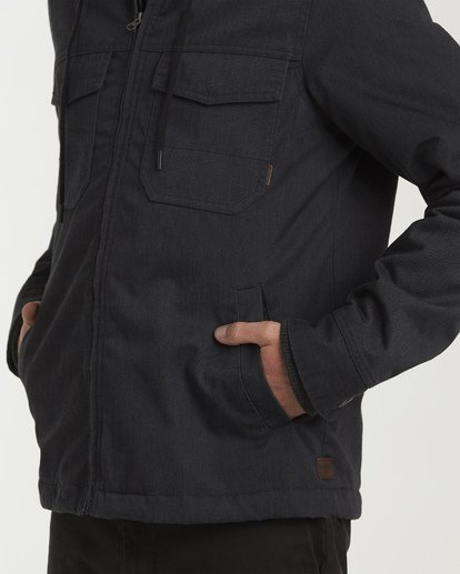 3 Barlow Twill Jacket Black M706VBBT Billabong