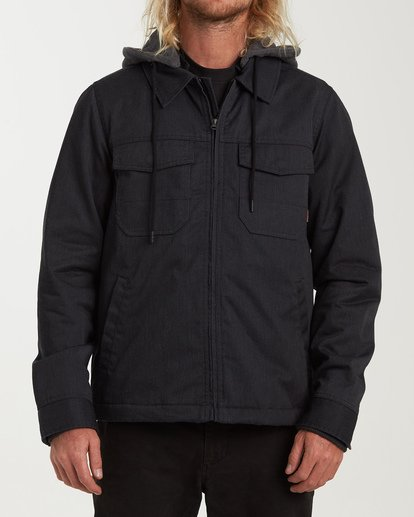 0 Barlow Twill Jacket Grey M706VBBT Billabong