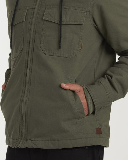 3 Barlow Twill Jacket Green M706VBBT Billabong