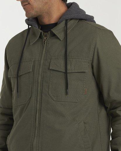 4 Barlow Twill Jacket Green M706VBBT Billabong