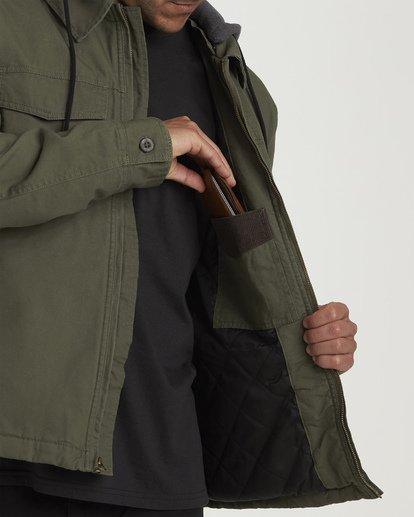 5 Barlow Twill Jacket Green M706VBBT Billabong