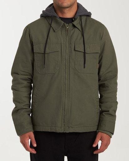 0 Barlow Twill Jacket Green M706VBBT Billabong