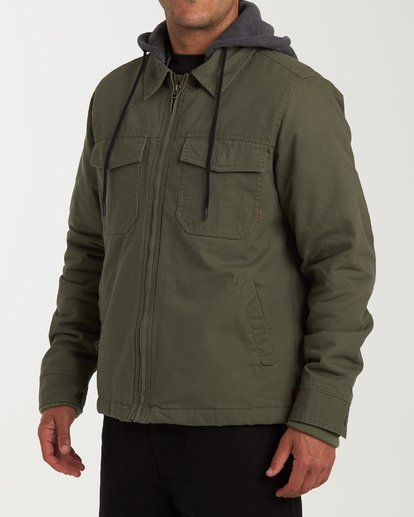 1 Barlow Twill Jacket Green M706VBBT Billabong