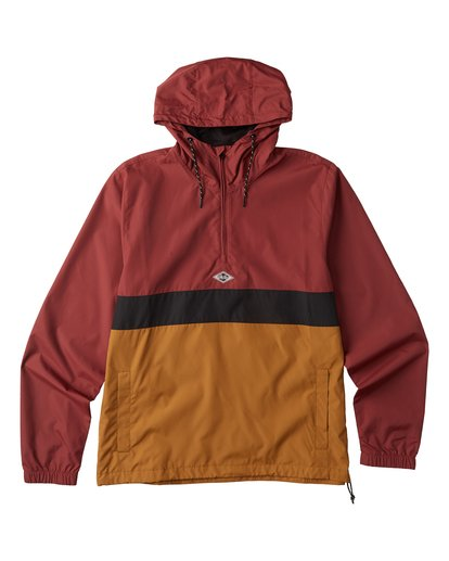 7 Wind Swell Anorak Jacket Red M7103BWI Billabong