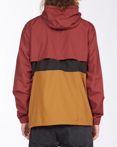 3 Wind Swell Anorak Jacket Red M7103BWI Billabong