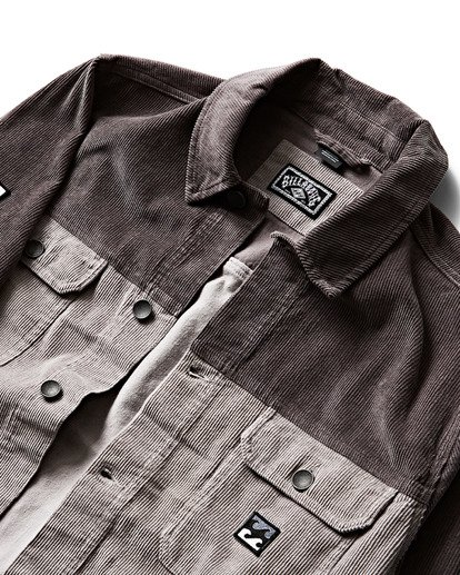 2 The Cord Jacket Grey M712QBTC Billabong