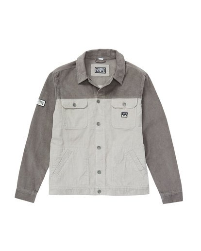 1 The Cord Jacket Grey M712QBTC Billabong