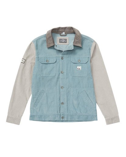 1 The Cord Jacket Blue M712QBTC Billabong