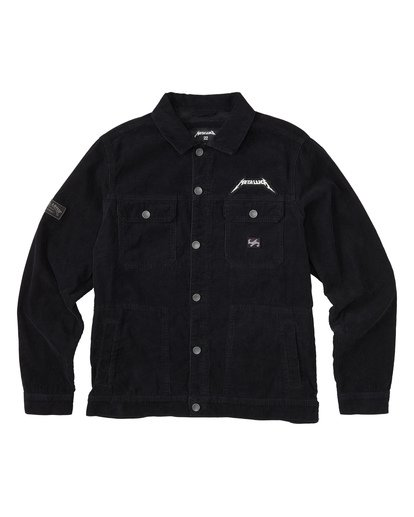 4 Metallica Shortest Straw Jacket Black M7141BSH Billabong