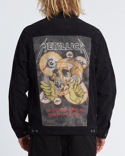 2 Metallica Shortest Straw Jacket Black M7141BSH Billabong