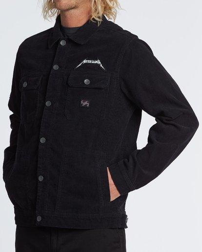 1 Metallica Shortest Straw Jacket Black M7141BSH Billabong