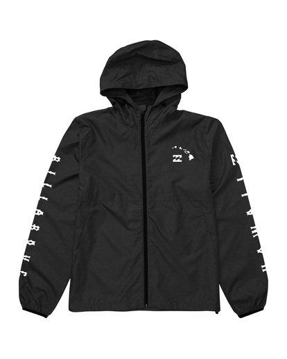 3 Tradewinds Windbreaker Jacket Black M7181BTR Billabong