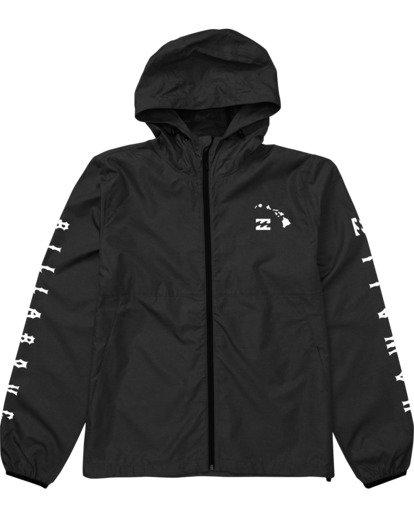 4 Tradewinds Windbreaker Jacket Black M7182BTR Billabong