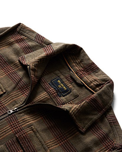 1 Barlow Lite Plaid Workwear Jacket  M726SBBA Billabong