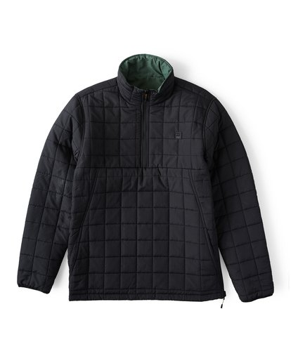 7 Boundary Reversible Puffer Anorak Jacket Black M727VBBO Billabong
