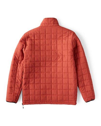 9 Boundary Reversible Puffer Anorak Jacket Beige M727VBBO Billabong