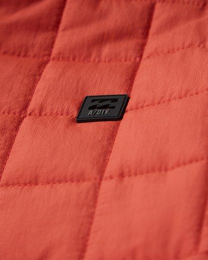 10 Boundary Reversible Puffer Anorak Jacket Beige M727VBBO Billabong