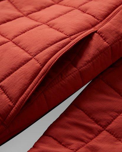11 Boundary Reversible Puffer Anorak Jacket Beige M727VBBO Billabong