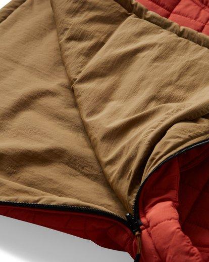 12 Boundary Reversible Puffer Anorak Jacket Beige M727VBBO Billabong