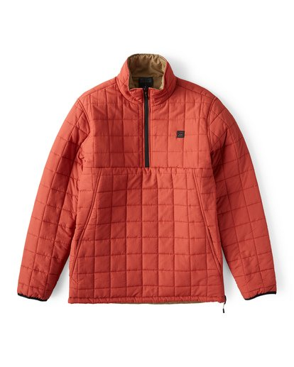 7 Boundary Reversible Puffer Anorak Jacket Beige M727VBBO Billabong