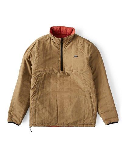 8 Boundary Reversible Puffer Anorak Jacket Beige M727VBBO Billabong
