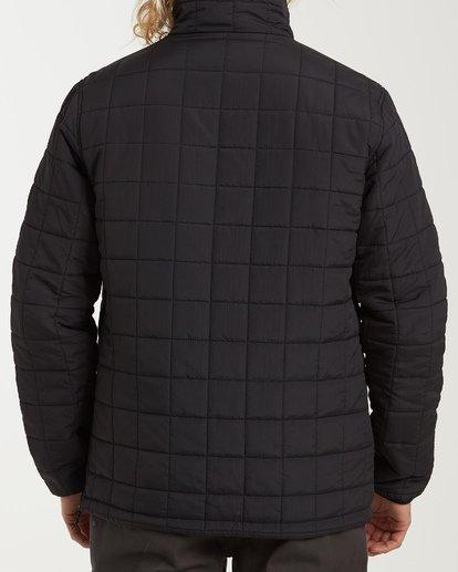 2 Boundary Reversible Puffer Anorak Jacket Black M727VBBO Billabong