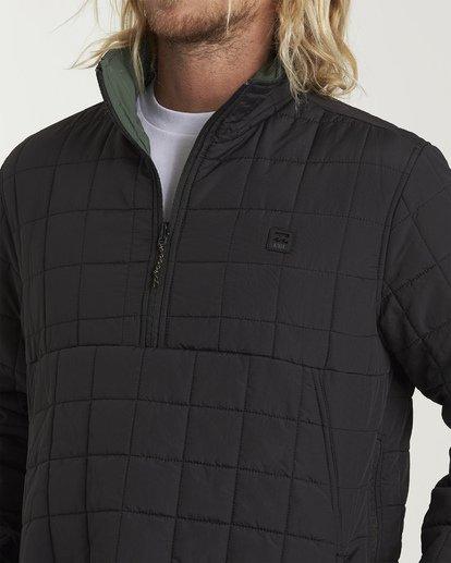 4 Boundary Reversible Puffer Anorak Jacket Black M727VBBO Billabong