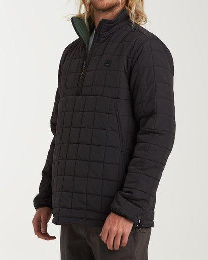 1 Boundary Reversible Puffer Anorak Jacket Black M727VBBO Billabong