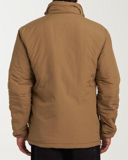 2 Boundary Reversible Puffer Anorak Jacket Beige M727VBBO Billabong
