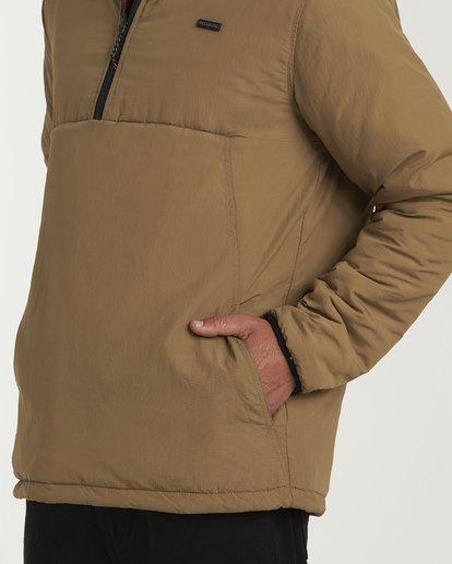 3 Boundary Reversible Puffer Anorak Jacket Beige M727VBBO Billabong