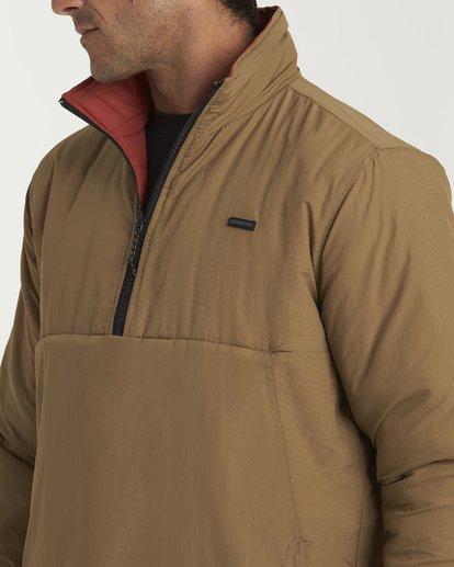 4 Boundary Reversible Puffer Anorak Jacket Beige M727VBBO Billabong