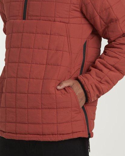 5 Boundary Reversible Puffer Anorak Jacket Beige M727VBBO Billabong