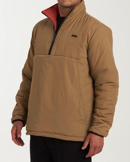 1 Boundary Reversible Puffer Anorak Jacket Beige M727VBBO Billabong