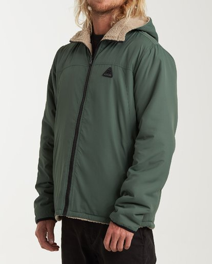 1 Switchback Reversible Jacket Green M741WBSR Billabong