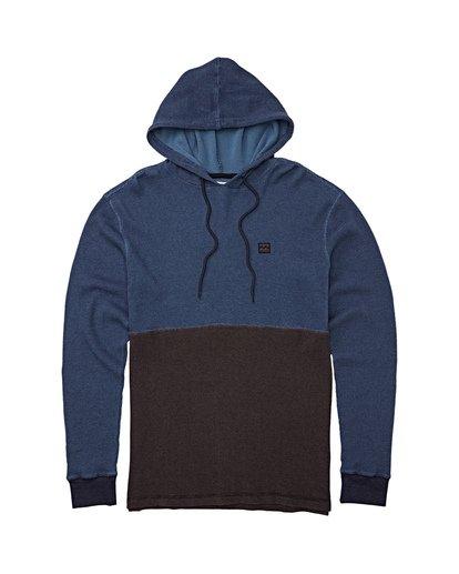 4 Keystone Panel Pullover Hoodie Blue M901WBKE Billabong