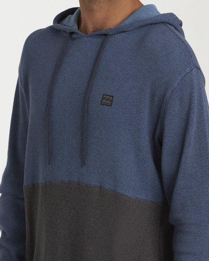 3 Keystone Panel Pullover Hoodie Blue M901WBKE Billabong