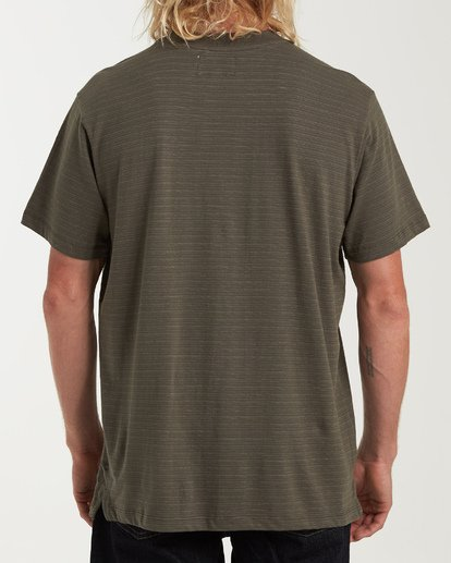 2 Mesa Crew Short Sleeve Pocket T-Shirt Green M902WBME Billabong