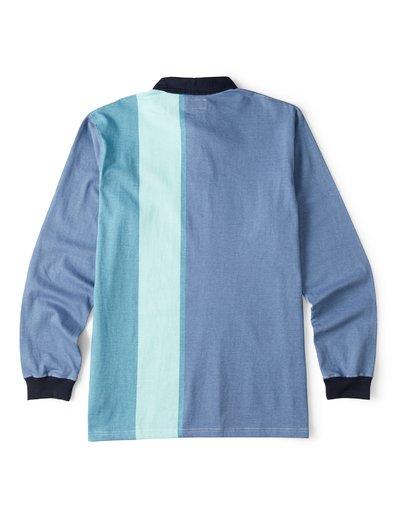 1 Hux Long Sleeve Polo Shirt Blue M903WBXE Billabong