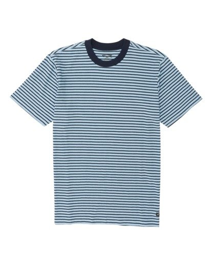 3 Delta Crew Striped T-Shirt Blue M9041BDE Billabong