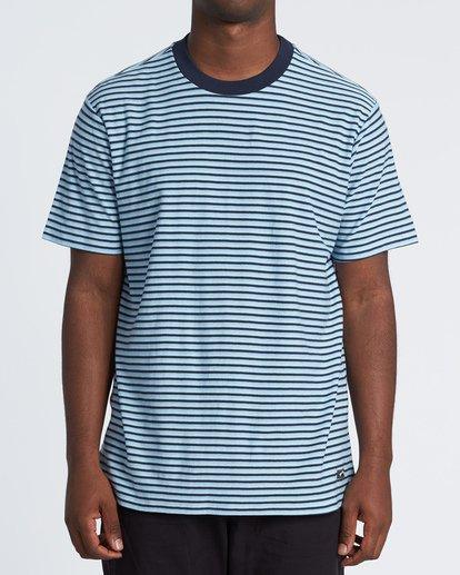 0 Delta Crew Striped T-Shirt Blue M9041BDE Billabong