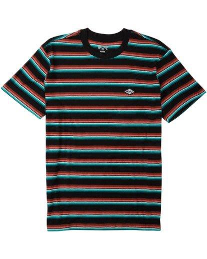 3 Die Cut Stripe Short Sleeve Crew T-Shirt Black M9041BDI Billabong