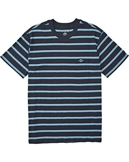 3 Die Cut Stripe Short Sleeve Crew T-Shirt Blue M9041BDI Billabong
