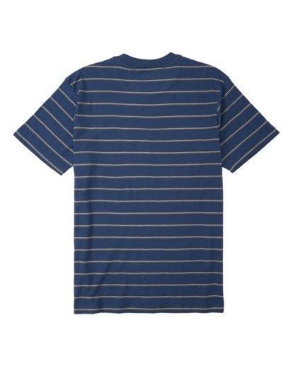 4 Die Cut Stripe Short Sleeve Crew T-Shirt Blue M9041BDI Billabong